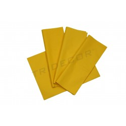 Tecido de papel amarelo 75x50cm 100 unidades