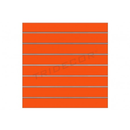 Panel de lamas naranja brillo 120x120 cm. Tridecor