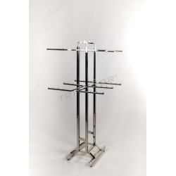 GARMENT RACK CHROME CLOTHES INSIDE 150X66X63 CM