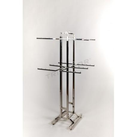 Peça rack chrome roba interior 150x66x63cm
