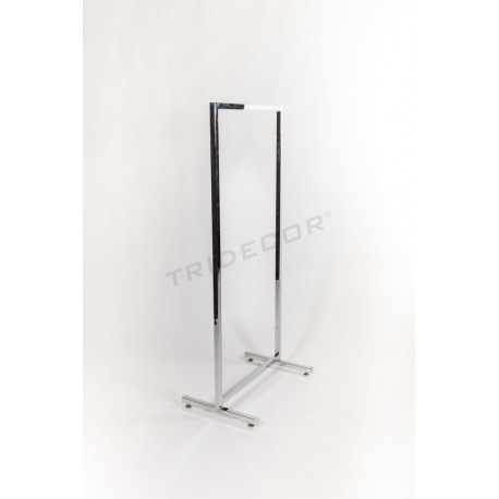Penjador simple quadrat de tub 60x135cm