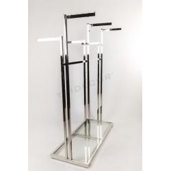 Roupa rack cirúrxico 6 base de brazos de vidro