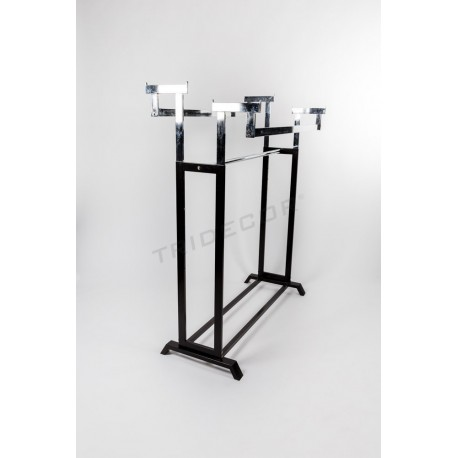 Coat rack glass bars and two heights, black legs, tridecor