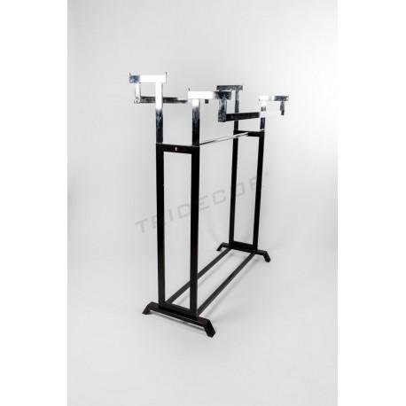 Penjador de vidre bars i dues altures, negre cames, tridecor