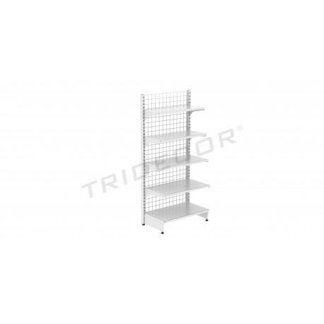 Metal shelf 90x200 cm. 1 face, tridecor