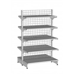 Metal shelf gondola 120x200 cm, tridecor