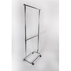 Clothes rack round bar two heights extensible arms, tridecor