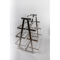 EXHIBITOR OF STEEL WITH SHELVES SHAPED PYRAMID