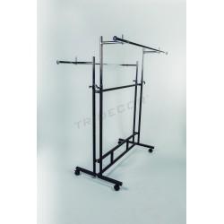 Coat rack 2 glass round bar
