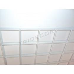 033124 Reja expositora blanca para pared 60x150 cm. Tridecor