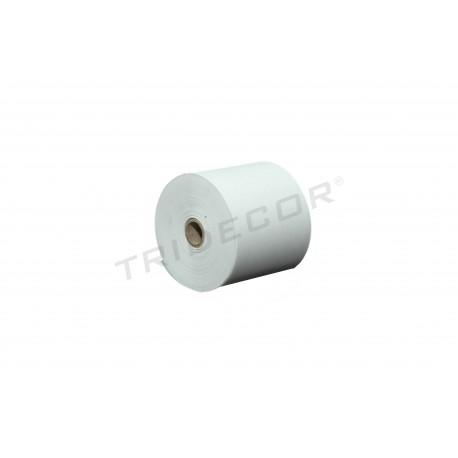 Papel térmico 80x55mm 8 rollos por paquete, tridecor
