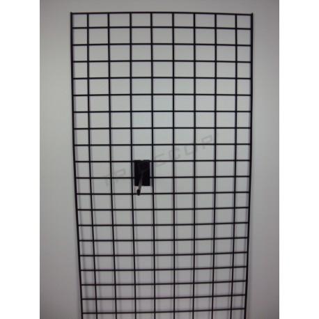 033064 Reja expositora negra doble margen 60x180 cm. Tridecor