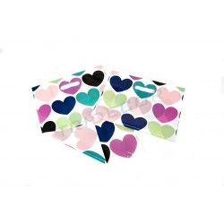 010304 Bolsas de plástico asa troquelada 35x45 cm corazones 100 unidades Tridecor