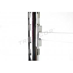 Sistema cremallera para tiendas, tubo redondo. Sistema de pared para formar estantes y percheros 240 cm. Tridecor
