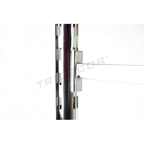 TUB DE CREMALLERA RONDA 50MM X 2,4 M CHROME