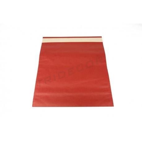 Sobre de papel fuerte rojo 48x46+15 cm 50 unidades