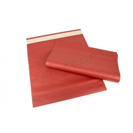 Paperezko gutun-azalak, gorria 39x30+12 cm 50 unitate