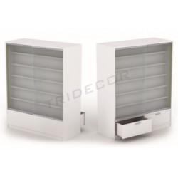 Mostrador de madera para tienda color blanco brillo de 120x150x5cm