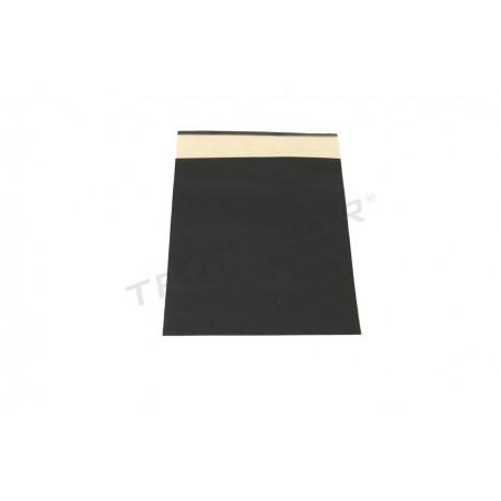 Sobre de papel fuerte negro 30x25+9cm 50 unidades