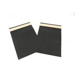 Sobres de papel, negro 39x30+12 cm 50 unidades