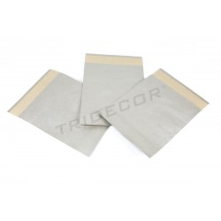 Envelopes de papel prata 30x25+9 cm 50 unidades