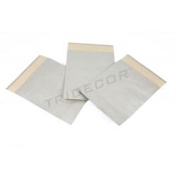 Sobres de papel plata 30x25+9 cm 50 unidades