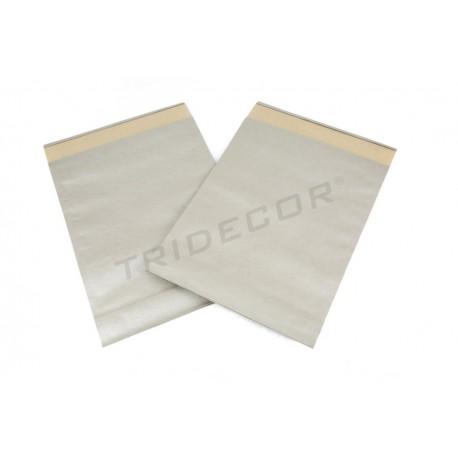 Envelope de papel forte prata 39x30+12cm 50 unidades