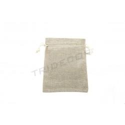 Bolsa tela de saco, 18x14 cm. 20 uds. tridecor