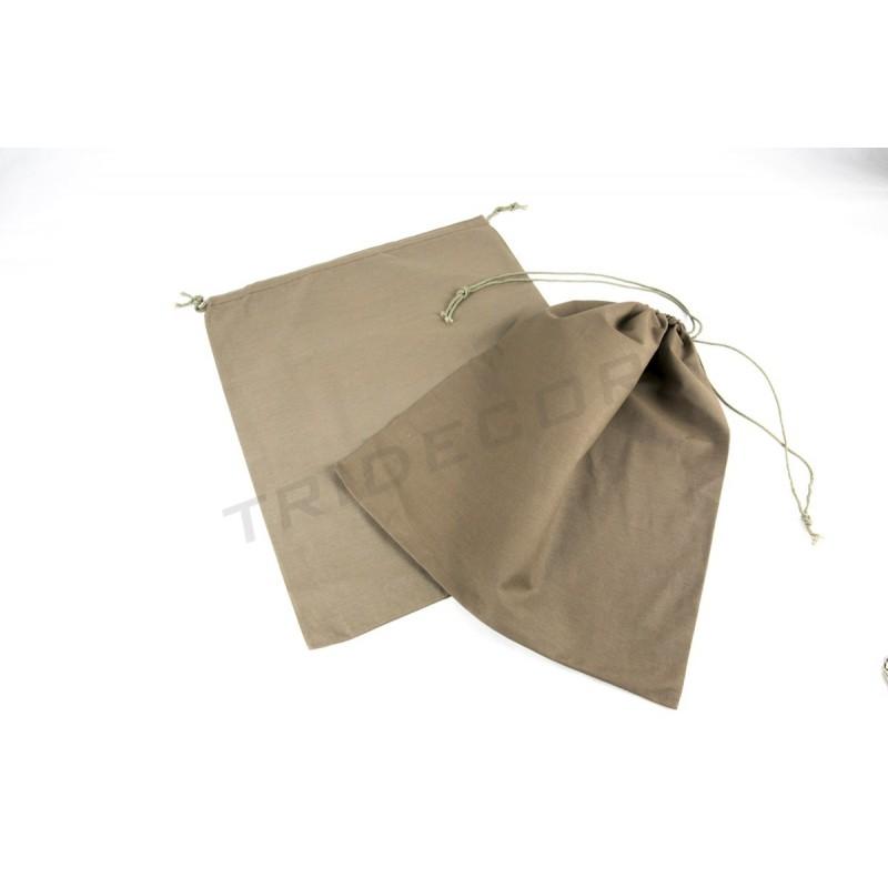 Farbe Aus Was: Tasche Aus Leinen Verschluss Schnürung Farbe Braun 38x4cm