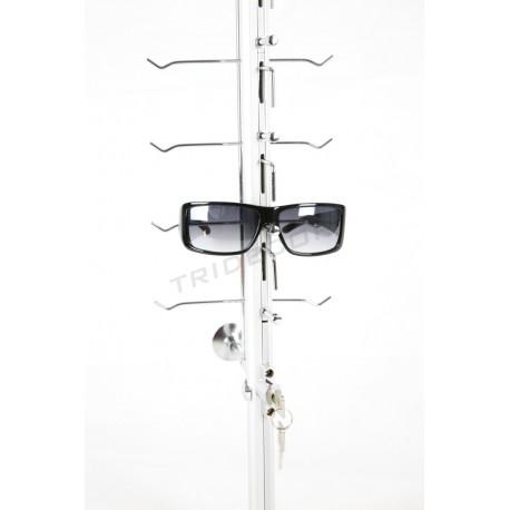 Expositor para 16 gafas de pared con llave 145x15.5 cm, tridecor
