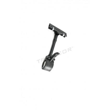 009173 Portaetiqueta negro con pinza 4 unidades. Tridecor