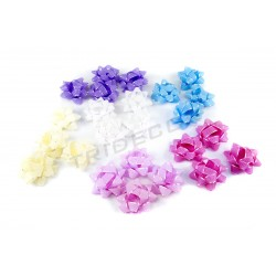 FLOWER FABRIC BOW PINK,WHITE,BLUE,BEIGE,PURPLE