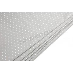Papel de seda chocolate estampado pontos brancos 86x62cm 100 unidades
