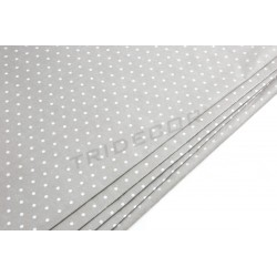 Tissue paper chocolate embossed white dots 86x62cm 100 units