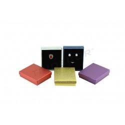 Caja para joyería, varios colores. 12x10x3 cm. 12 uds, tridecor