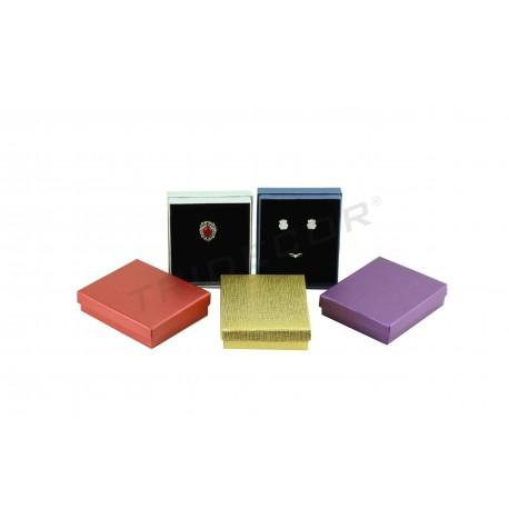 Caixa para jóias 12x10x3cm 12 unidades