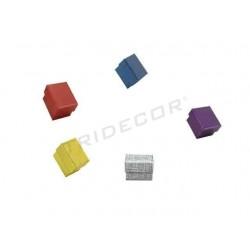 Caja para joyería 5x5xx3.5 cm varios colores 24 unidades