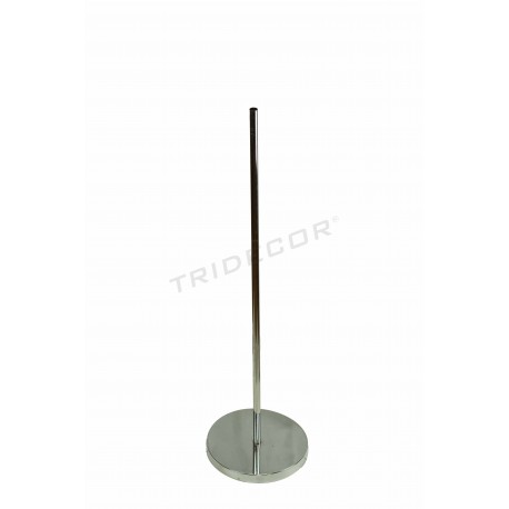 Base metálica para bustos tubo 25mm, tridecor
