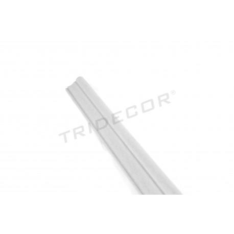 045146 Cornisa mdf gris para panel de lama 240 cm. Tridecor