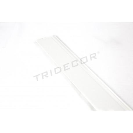 Rodapie mdf branco panel de lámina 240 cm, tridecor