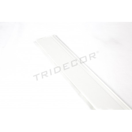 Rodapie mdf white panel blade 240 cm, tridecor