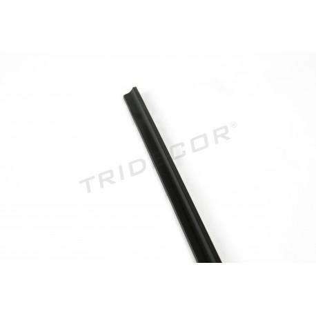 Mediacaña mdf color negro para panel de lamas 240 cm. Tridecor