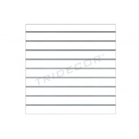 Panel de lamas blanco brillo 120x120 cm. Tridecor