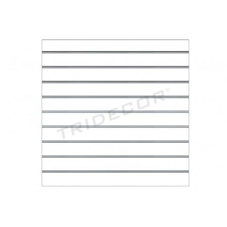 Panell de fulles, brillantor blanc 120x120 cm Tridecor