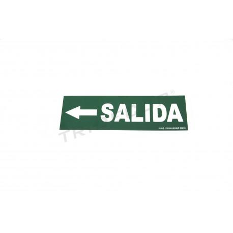 Cartel salida a la izquierda color verde