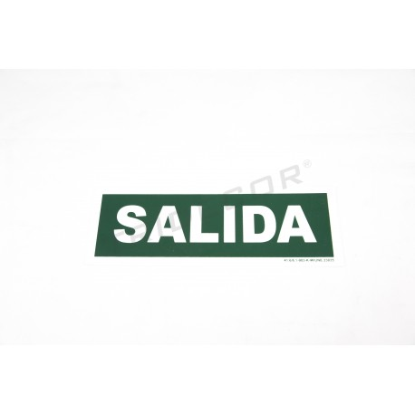 Cartel salida de 30x10.5cm de color verde