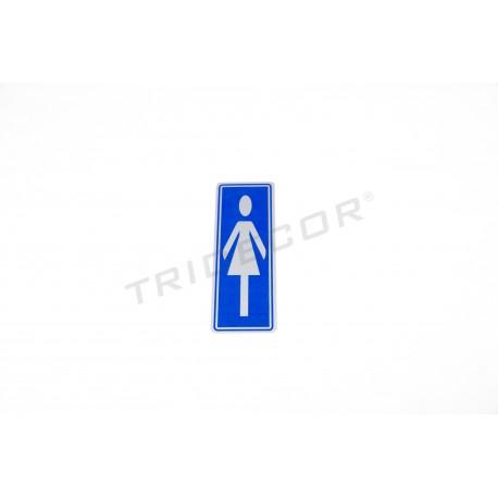 厕所的海报的轮廓女士