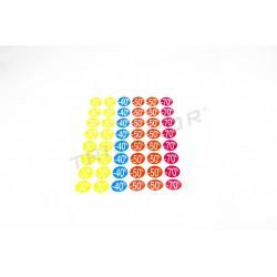Tags discounts. Various colors. 2.5x2.5 cm, tridecor