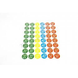 Stickers discounts. Several percentages. 240 pcs, tridecor