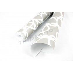 Carta da parati grigio/bianco 10 m